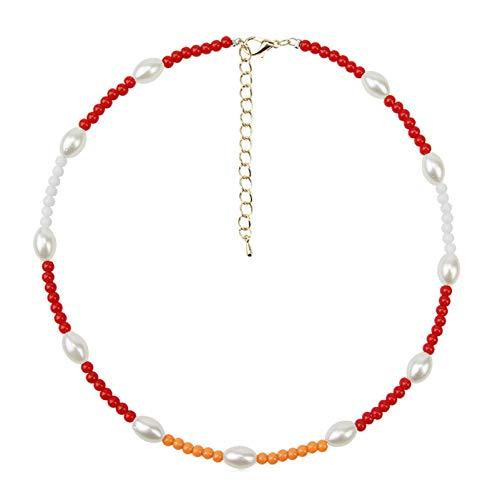 BNMY Moda Oro Plata Cadena De Clavícula Collar De Letras Colgante Collar De Encanto para Mujeres,B