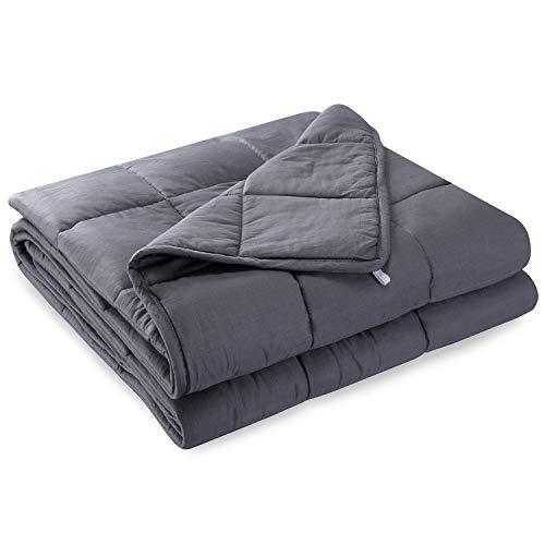 Anjee Gewichtsdecke Schwere Decke für Erwachsene mit einem Schlafgewicht von 45-80 kg, Baumwolle (5,4 kg, 122 x 183 cm)