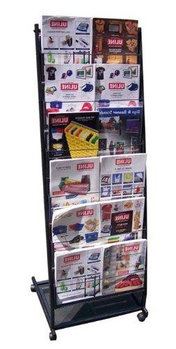 Fantastic Displays 6 Pocket Mobile Literature Rack Brochure Holder for Magazine Rolling - Large Photo #2