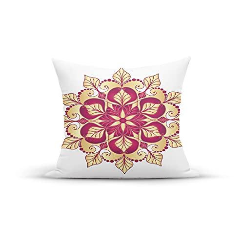 Funda de cojín decorativa con diseño floral de estilo shabby chic con efectos arabescos, imagen bohemia, elegante, para dormitorio, sofá, sala de estar, 45,7 x 45,7 cm