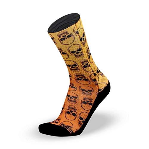 LITHE Calcetines Skully - Orange Socks