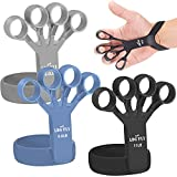 Hand Grip Strengthener - Upgraded Finger Stretcher and Finger Exerciser - Professional Finger Expander and Grip Strength Trainer for Hand Therapy, Arthritis, Carpal Tunnel, Rock Climbing and Guitar