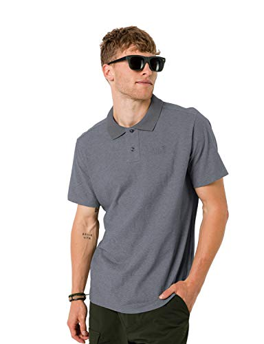 Jack Wolfskin Pique Polo Homme Polo Homme Pebble Grey FR : M (Taille Fabricant : M)
