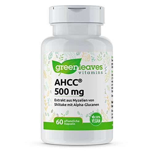 Greenleaves Vitamins - AHCC 60 vegetarische Kapseln 500mg Extrakt aus Shiitake. Das Original!