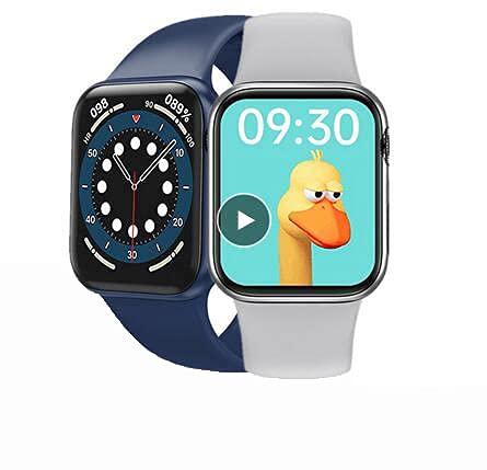 HW12 Smart Watch 1.5 pulgadas Pantalla completa 40MM 3D dinámica UI Bluetooth llamada larga espera reloj 6 hombres mujeres PK IWO 8 10 (negro)