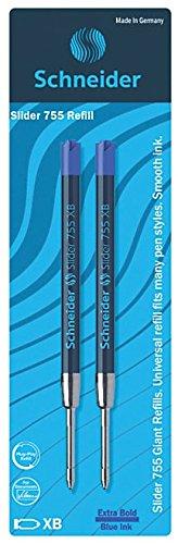 Schneider Slider 755 XB Refill (Pack of 2) (Blue) (175693)