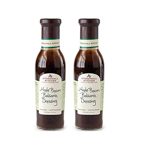 Stonewall Kitchen Maple Bacon Balsamic Dressing, 11 Ounce (Pack of 2)