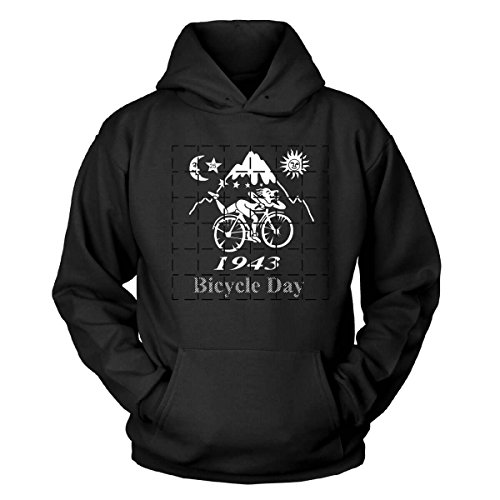 Shirtblaster Albert Hofmann Bicycle Day Kapuzenpullover Größe L