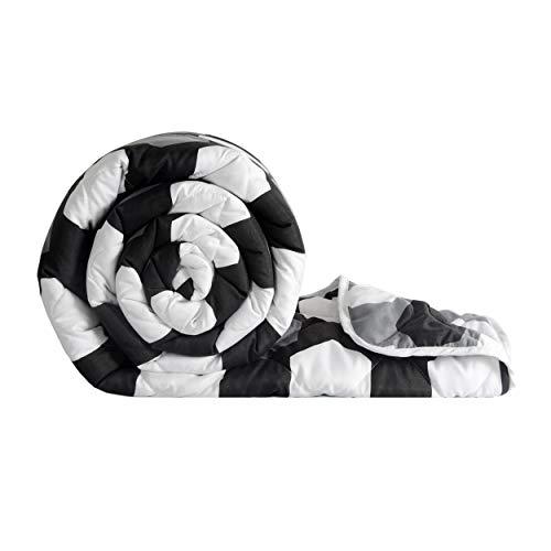 Divine Casa Microfiber Reversible Design All Weather Single Bed Comforter Blanket Lightweight...