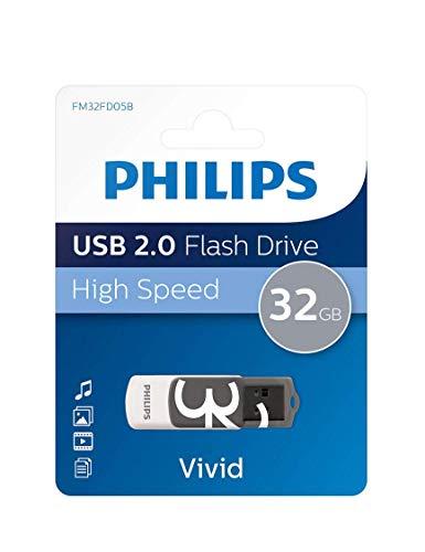 Philips FM32FD05B Vivid Edition - Memoria USB de 32 GB, gris y...