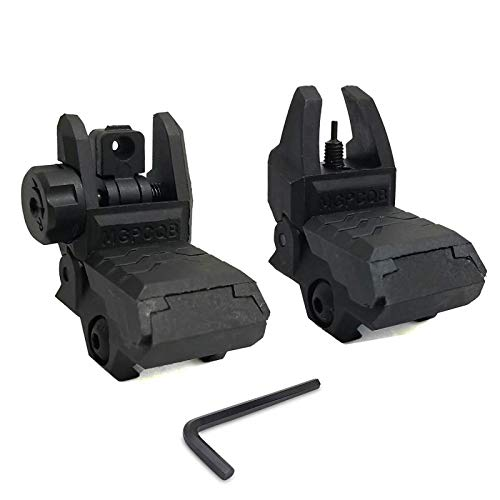 SLONLI Flip up Sights Low Profile Backup Sight Front and Rear Sights Fits Picatinny Rails