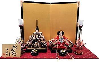 雛人形 平飾り 三五親王 正絹「唐花文様」金襴敷飾り KN-HT35-03