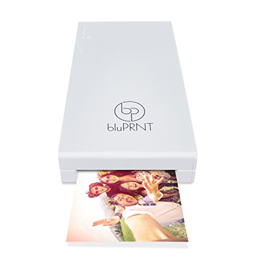 bluPRNT Instant Portable Printer for Smartphone Social Media Photos with WiFi & NFC, Compatible with Android ONLY - White
