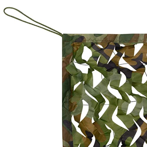 Filet de forêt de camouflage, Camouflage Net 2x3m Vert Parapluie Parapluie Net Décoration De Jardin Protection De La Vie Privée Couverture Voiture Couverture Toile Net Balcon Terrasse Écran Solaire Ta