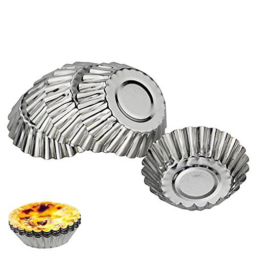 24 Piezas Molde de Tarta de Huevo,Pudín Tartaleta Molde Muffin Tazas para Hornear,para Cupcakes, Pudín, Huevos de Tarta, Magdalenas,