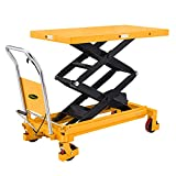 APOLLO Manual Double Scissor Lift Table Hydraulic Table Cart Motorcycle Platform Car 1760lbs Capacity 59' Lifting Height