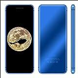 Ccylez V66 Mini teléfono Celular móvil Ultrafino, Doble Tarjeta de Doble Modo de Espera, teléfono Inteligente Desbloqueado con Pantalla táctil, teléfonos móviles multifunción para Estudiantes(Azul)