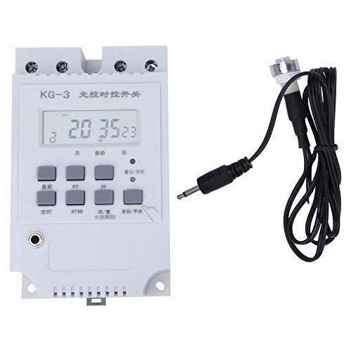 KG-3 Elektronische timer-tijdschakelaar, automatische lichtschakelaar met sonde, fotocellen, timer, lichtschakelaar, 220 V, voor huishoudelijke apparaten, straatlantaarn, neonlicht