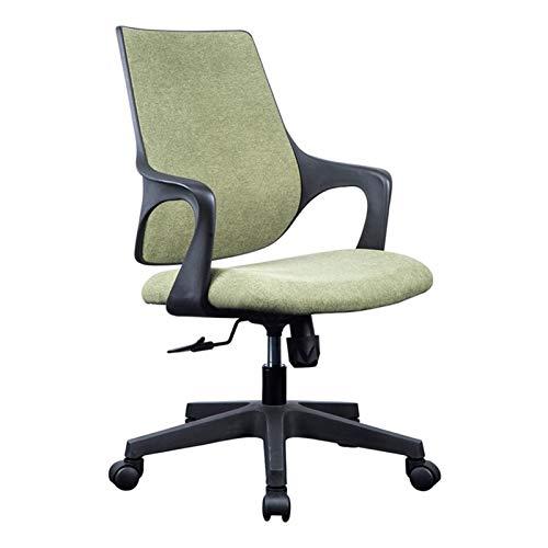 QIAOLI Silla de oficina moderna y minimalista para estudiante, silla de estudio, escritorio, silla giratoria para computadora, para casa, oficina, (color: verde claro)