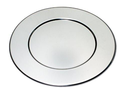 CHG 32002-48 Platzteller rund ø 32 cm, aus Edelstahl-rostfrei, 0.7 mm