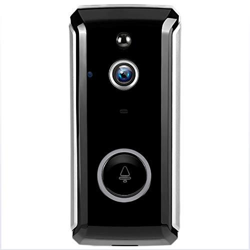 LXT-KL Ring Video Timbre, ABS+material de metal, timbre de video que reemplaza su mirilla con video 720P y conversación bidireccional. detección de movimiento avanzada