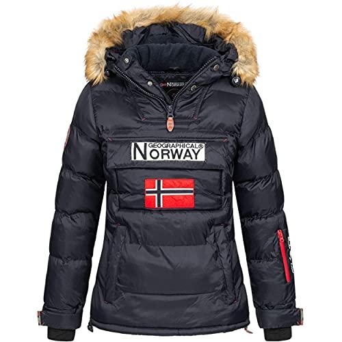 Geographical Norway BELANCOLIE Lady - Parka de Mujer cálida - Abrigo Capucha de...