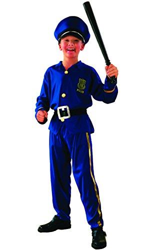 Fiori Paolo-Poliziotto Costume Bambino, Blu, L (7-9 anni), 61208.L