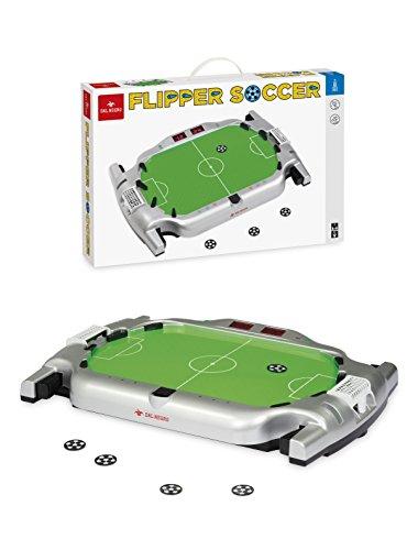 Dal Negro Flipper Soccer Gioco Sportivo da Tavolo Giocattolo 989, Multicolore, 8001097538980
