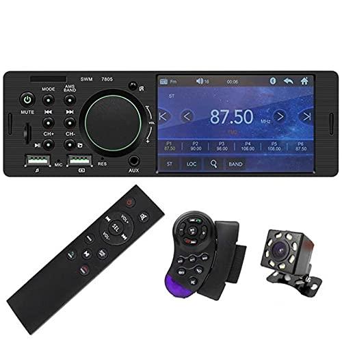 Coche Bluetooth Sonido Estéreo Manos Libres, Radio De Pantalla Táctil, Pantalla TFT De Alta Definición De 4.1 Pulgadas, Tarjeta De Soporte USB/TF/AUX-IN,With camera remote control