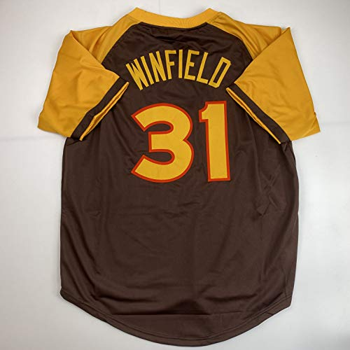 Unsigned Dave Winfield San Diego Brown Custom Stitched Baseball Jersey Size Men's XL New No Brands/Logos