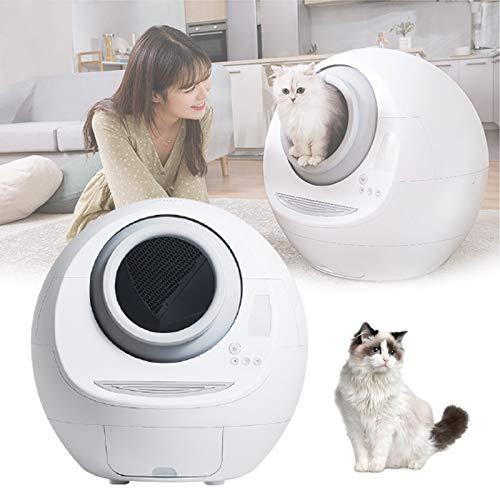 ZPCSAWA Bac a Litter Robot Autonettoyante pour Chat, électrique Bac a Litière Automatique pour Chat, Nettoyeur électrique Multifonction Toilette Intelligentepour Chat