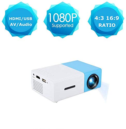 Mini LED HD Projector, fosa Portable Home 1080P Video Projector Home Cinema Projector for Living Room/Bedroom/Study Room/Travel/Party, Support Read U Disk/Mobile HDD/SD Card/AV