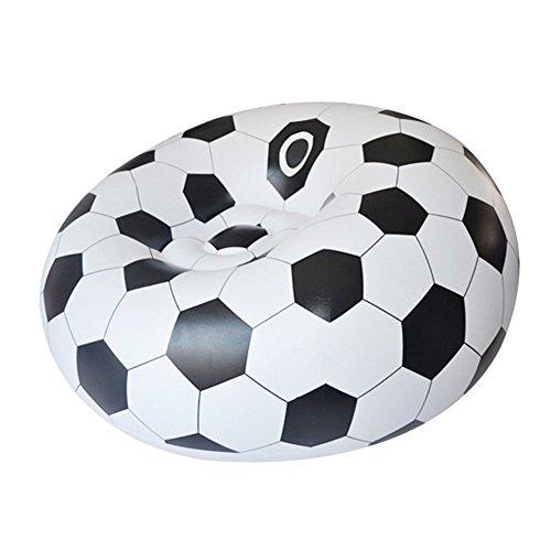 Yjsofa Fútbol Portátil/Baloncesto del Asiento De Aire Al Aire Libre Inflable Inflable del Sofá (Color : Electric Pump, Tamaño : Football)