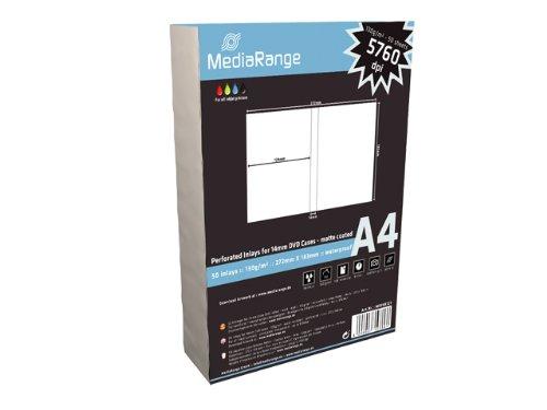 100 (2x 50) MediaRange DVD Einleger für 14mm DVD's Inlay