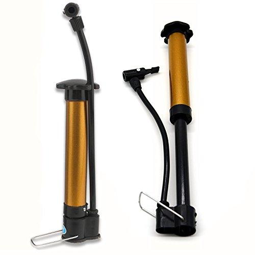 LVYIMAO Mini Bomba de Suelo portátil para Bicicleta, Bomba de Aire de Alta presión, inflador de balón de fútbol con Adaptador de Aguja