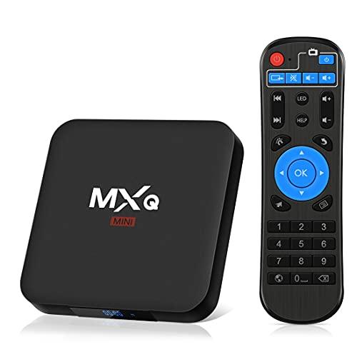Android TV Box 8.1, Superpow Smart TV Box Quad Core 2 GB di RAM + 16 GB di ROM, 4K UHD, H.265, HDMI, 2 Porte USB , WiFi Media Player, Set-Top Box Android con Telecomando