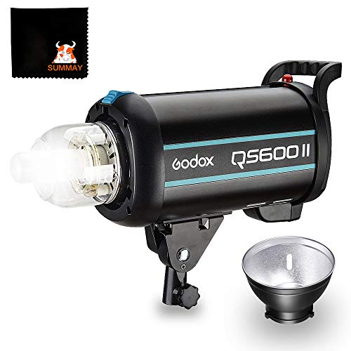 GODOX QS600II Studio Strobe Flash Light 600Ws Professional Photography Studio Light Monolight 150W Modeling Lamp for Indoor Studio Portrait Photography (QS600II)