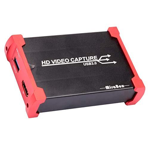 AKDSteel Mirabox - Tarjeta de adquisición de vídeo HDMI para conmutador de PS4 (USB 3.0)