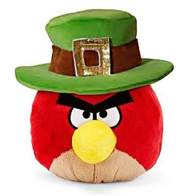 "Red Bird: ~5"" Angry Birds St. Patrick's Day Mini-Plush Series (No Sound)"