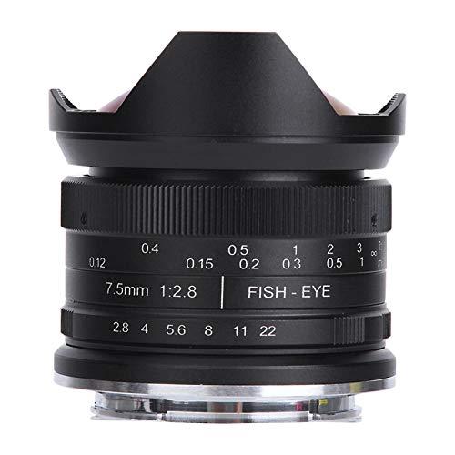 FOLOSAFENAR Hochwertiges spiegelloses Kameraobjektiv Micro Focus 180 Grad Fisheye F2.8 für Canon EOS.M Mount