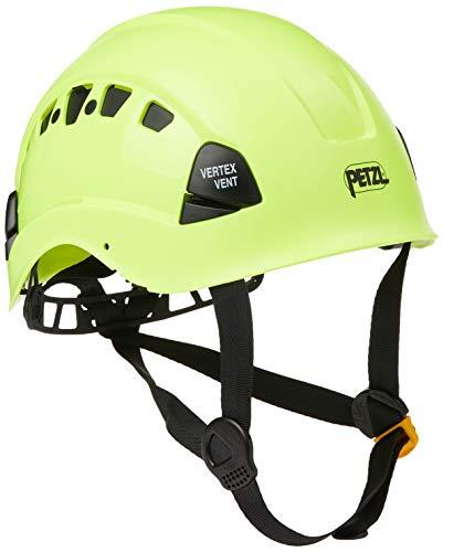 PETZL A10VYA HV Vertex Vent Confortevole Traspirante per Il Lavoro in Altezza e Salvataggio, Giallo ad Alta visibilità