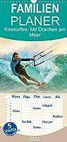 Kitesurfen: Mit Drachen am Meer - Familienplaner hoch (Wandkalender 2022 , 21 cm x 45 cm, hoch): Mit dem Kiteboard surfen: Auf den Wellen fliegen (Monatskalender, 14 Seiten )