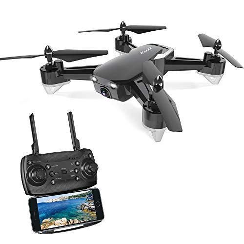 LYHLYH Pliable Drone avec caméra HD WiFi, appareils de Photographie aérienne Hauteur Fixe Avions de contrôle à Distance, 12 Minutes vol 2 Millions de Pixels pour Adultes débutants,Noir