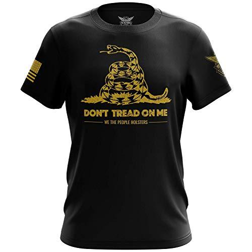 We The People Holsters - Gadsden Flag - Dont Tread On Me - Rattlesnake Shirt - Short Sleeve T Shirt - Patriotic Shirt - American Flag Patriotic Shirt - Black - M