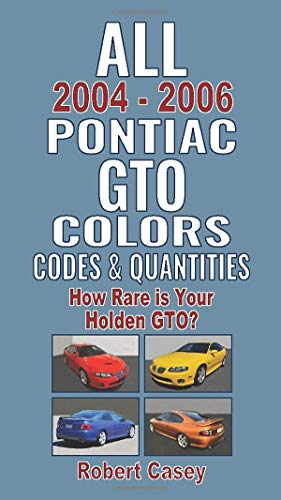 All 2004-2006 Pontiac GTO Colors, Codes & Quantities: How Rare is Your Holden GTO?