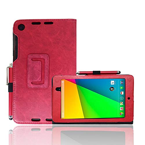 AFesar for Google Nexus 7 2013 FHD 2nd Gen Tablet Case, Premium Slim Synthetic Leather Flip Stand Cover Magnetic Closure Case for Asus K009 Google Nexus 7 Cover (Red)