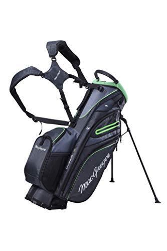 MacGregor Golf MACBAG146 Mactec Hybrid 14 Golf Club Stand Carry Trolley Bag, Gris Carbón