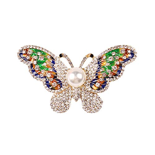 YAZILIND Rhinestone Brooch Pins Butterfly Breastpin Corsage Friends Women Jewellery Gift(Color 2)