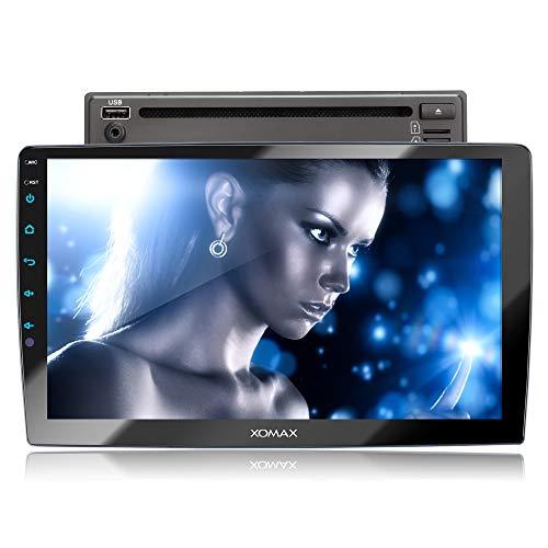 XOMAX XM-2D1006 Autoradio con mirrorlink, LED Colori di illuminazione, vivavoce bluetooth, schermo touch screen 10,1 pollici / 25,7 cm, RDS, DVD, SD, USB, 2 DIN