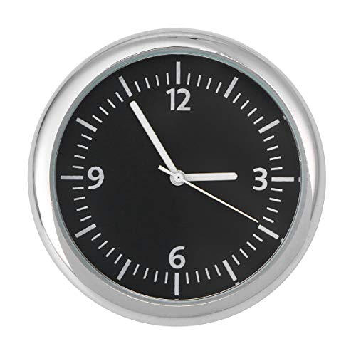 Vosarea Auto Armaturenbrett Uhr Auto Elektronische Uhr Für Auto Innendekoration (Schwarz)